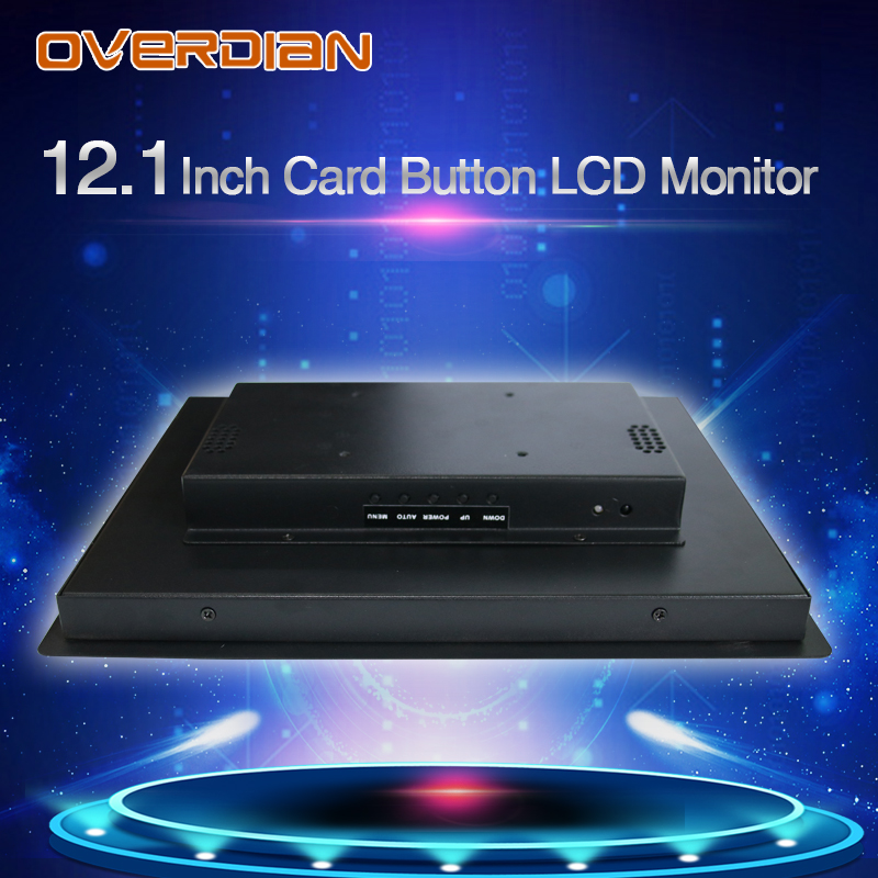 Image 3 - 12inch Lcd Monitor Resistance Touch Industrial Control VGA/DVI/USB Connector Metal Shell Card Buckle Type Installation-in Industrial Computer & Accessories from Computer & Office