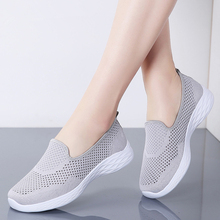 MIUBU 2019 Summer Fashion Women Shoes Breathable Mesh Slip-on Casual Flats Shoes Women Sneakers Ladies Shoes zapatillas mujer