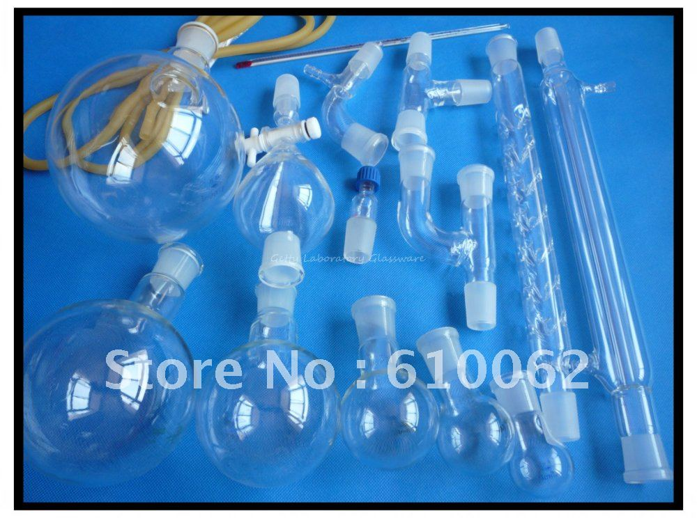 Free Shipping, Laboratory Lab Glassware Kit, Joints all 24/29 (Borosilicate Glass 3.3) mip390 dip 7