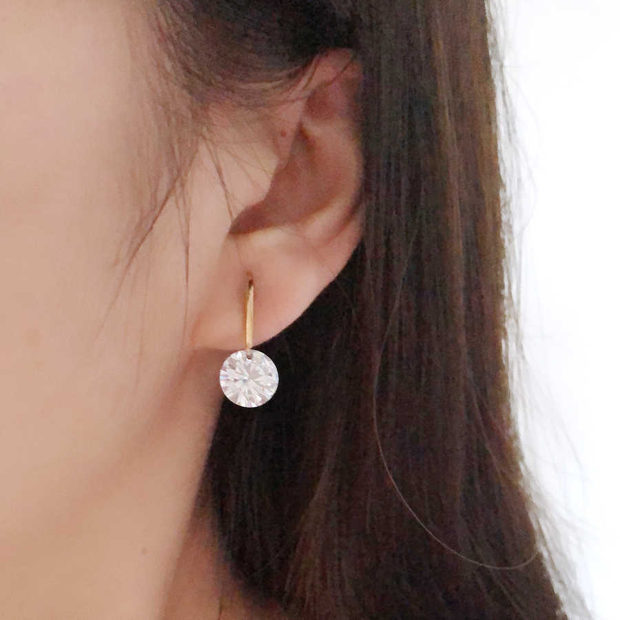 07ac9548f ... 11.11 Top Quality Famous Designer Jewelery for Women Gold Color Plating  Round Stud Earrings With CZ