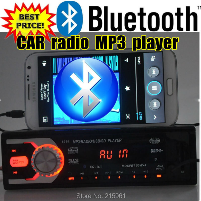 2015 12 V Coche radio Estéreo bluetooth Radio FM MP3 de Audio reproductor de 5 V