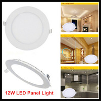 10PCS 12W LED Ceiling Lights Panel Light AC85 265V Downlights Round Square Ultra Thin LED Panel