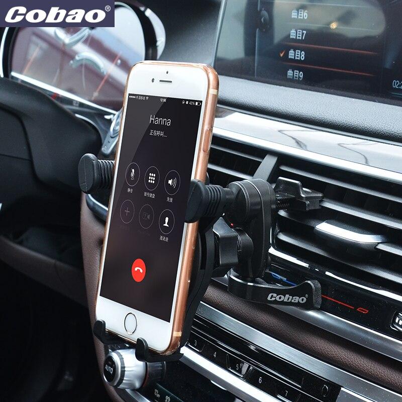 Universal Auto Kfz Halterung Halter Für iPhone Für Samsung Handy GPS Cobao Auto Handyhalter Entlüfter
