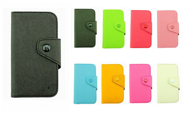 Fancy PU Leather Wallet Case Cover With Magnetic flap closure Diary for samsung I9000 Galaxy S Smart Mobile Phones