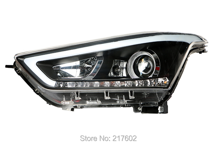 for Hyundai IX25 Headlights Low beam Bi-xenon lens with LED DRL light and LED Turn light Car lights Assembly LF for chevrolet cruze tuning bi xenon projector lens head lights with led turn light 2015 year new arrival