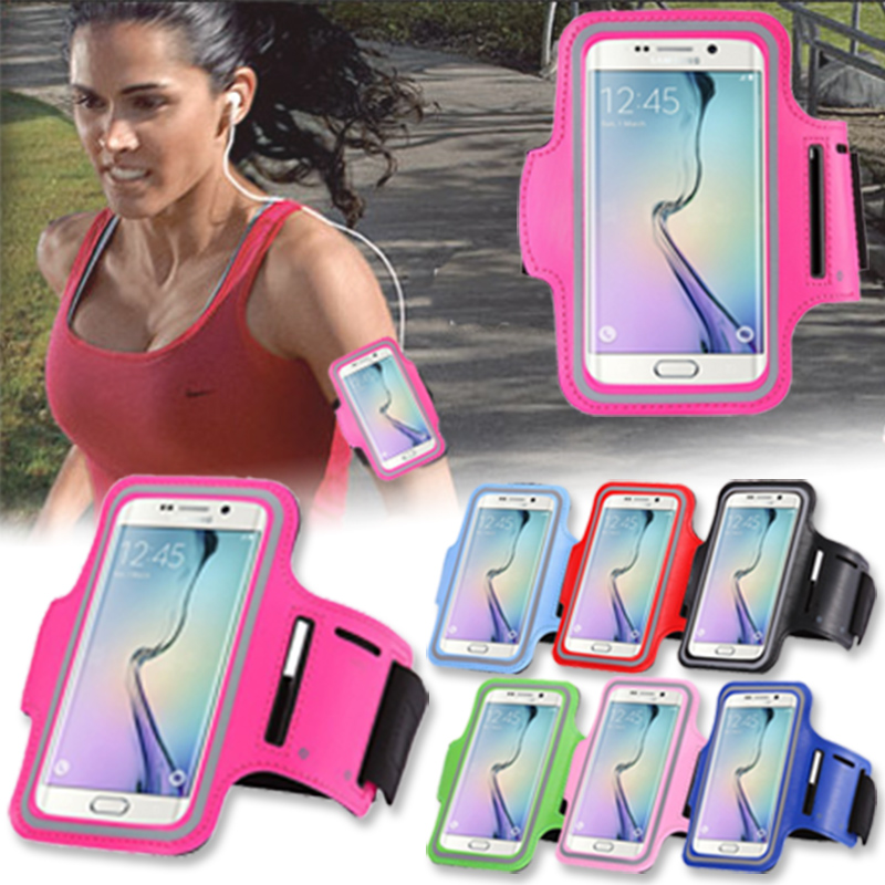 Til Huawei Samsung Sport Armbånd Etui Mobiltelefon Ridning Fritid GYM Løb Cover Cover Bag Fundas For Xiaomi iPhone LG Run Arm Case