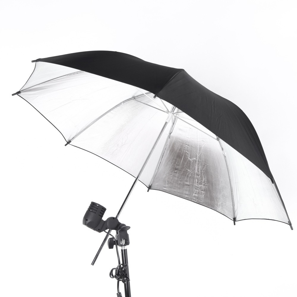 "Photography Accessories Reflector Umbrella 33""/ 83cm Photo Studio Flash Light Reflective Black Sliver Umbrella"