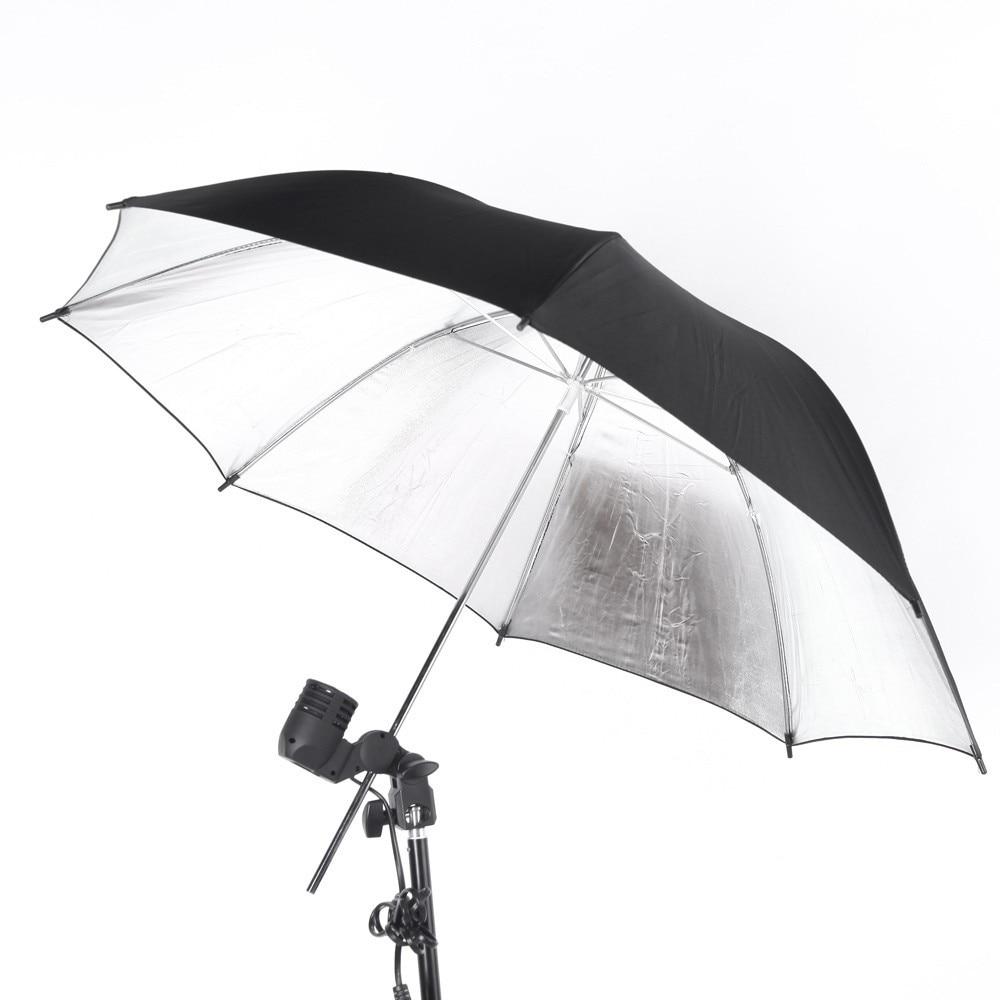 "Photography Accessories Reflector Umbrella 33""/ 83cm Photo Studio Flash Light Reflective Black Sliver Umbrella|reflector umbrella|photo studio|photography accessories - title="
