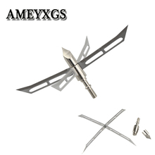 6/12pcs Archery Hunting Tips Arrowheads 128gr 4 Blade Broadheads Arrow Points Large Cut Bow Shooting Accessories