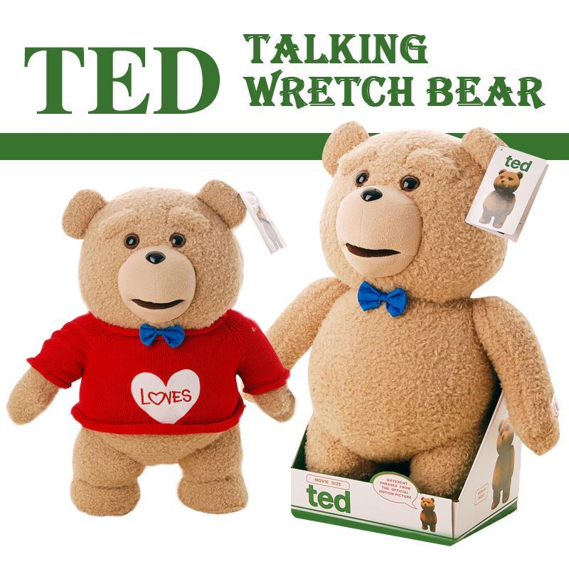 Livraison gratuite 40 cm Ted bear 16 pouces r-rated parler peluche ours en peluche jouet poupée jurant et version standard
