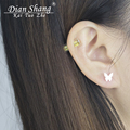 DIANSHANGKAITUOZHE Stainless Steel Earrings For Women Jewelry Brincos Gold Silver Butterfly Earring Boucle d'oreille