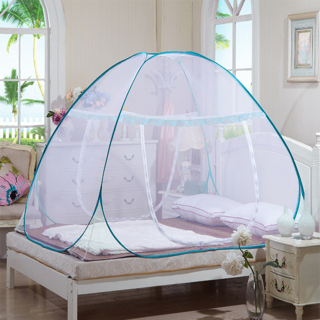 New 150*200*150cm Mesh Mosquito Net Mongolian Yurt Good Sleep Mosquito Nets For Bed Netting With Zipper Single Door  -46