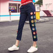 2019 Spring Summer Plus size Jeans woman clothing New hole Fashion