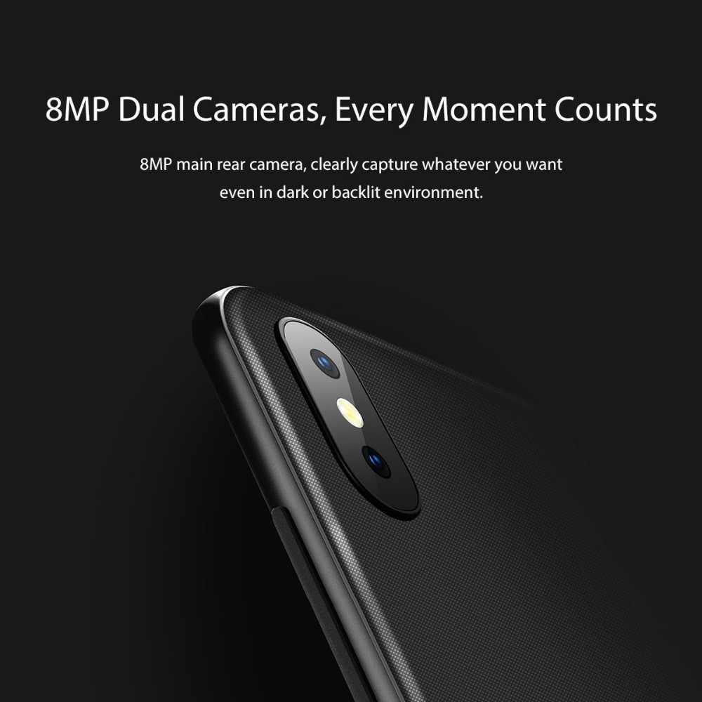 Blackview A30 5.5 pouces 19:9 Smartphone plein écran MTK6580A Quad Core 3G visage ID téléphone portable 2GB + 16GB Android 8.1 double SIM