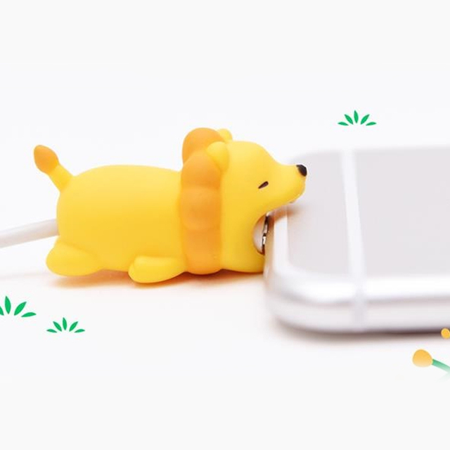 1 piece cable bite phone cable protector /Phone holder accessory /cute rabbit Animal squishy jokes/cable biters for iPhone Xs XR