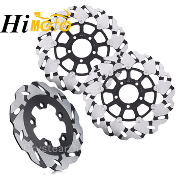 320mm+240mm Full Set Front Rear Brake Discs Rotors For Suzuki GSXR750 85-95, GSXR1100 89-00, GSF 600 1200 BANDIT 95-06, SV650 02 image