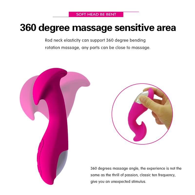 10 Speeds silicone vibrator massager female clitoris g spot vibrator massager vibrating USB Rechargeable Waterproof Sex toys