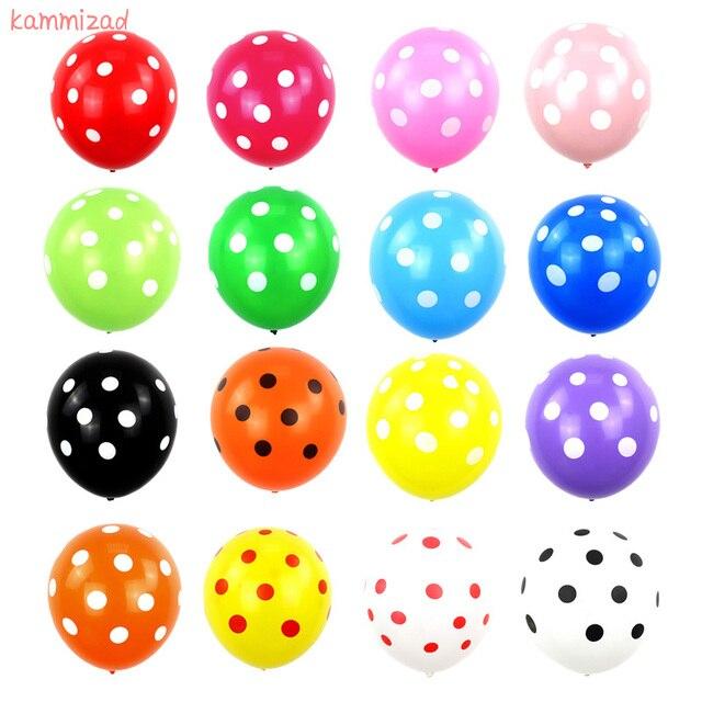 5 cái/lốc 12 inch Màu Đỏ Và Màu Đen Polka không khí Dot Latex Bóng Bay Mickey chủ đề sinh nhật globos bé tắm cô gái bên xmas trang trí