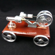 Stirling engine model DIY Car toy Enlightenment of Science Manufacturing power source model Children s birthday