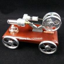 Получить скидку Модель двигателя Стирлинга DIY автомобиля игрушка просвещения науки производства источник питания модели детский подарок на день рождения