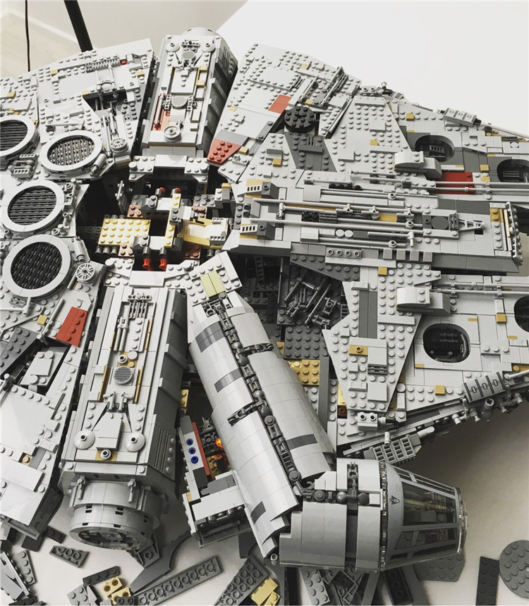 Millennium Falcon Lepin 8445pcs Compatible 75192 Star wars Series Ultimate Collectors Model Building Bricks Toys 44