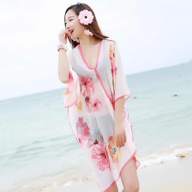 2017 New Summer Cover up Large Pareos Chiffon Wrap Shawl Bikini Beach Sarongs For Women  ...