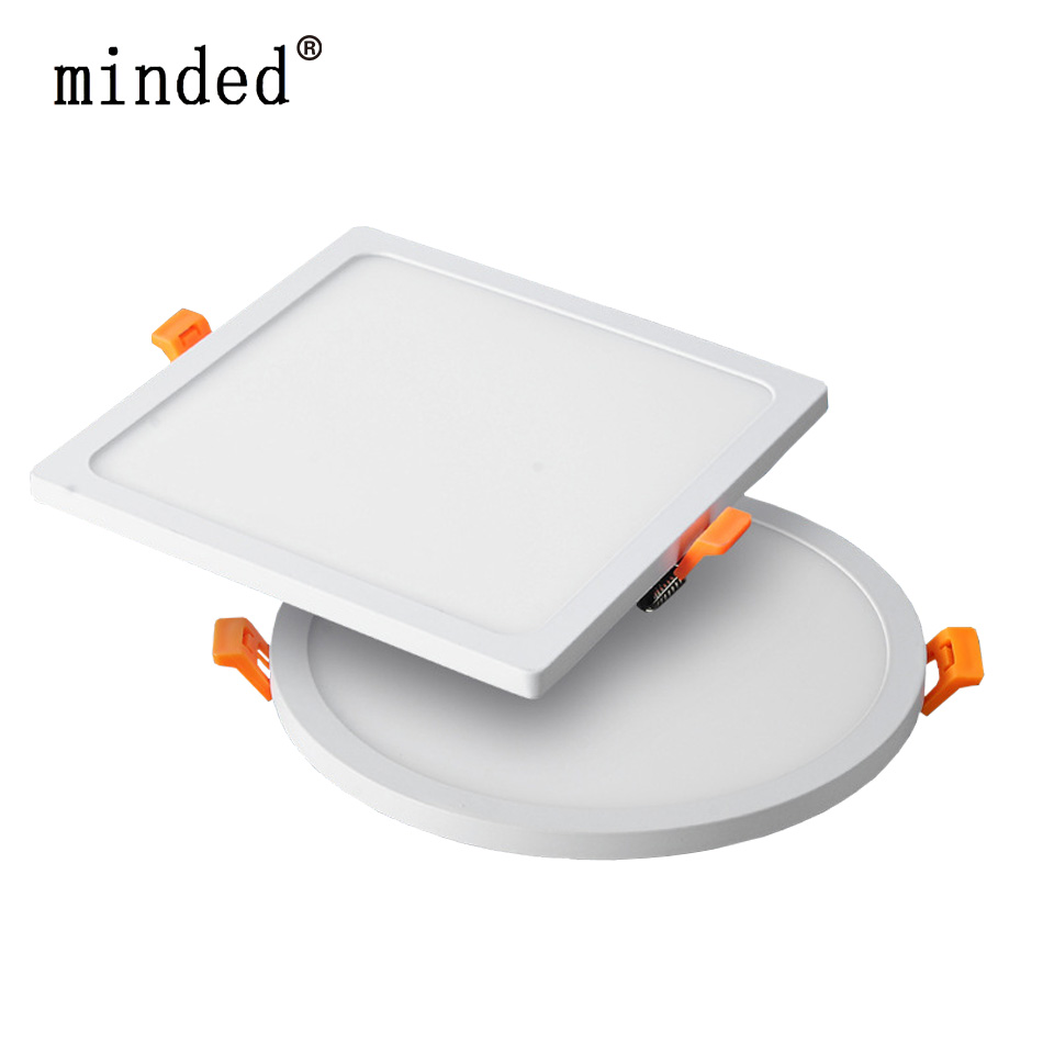 Narrow Frame Led Panel Downlight Dimmable 6w 12w 18w 24w Round Square Ultra Thin Led down light Cold /Warm White Indoor Lighting