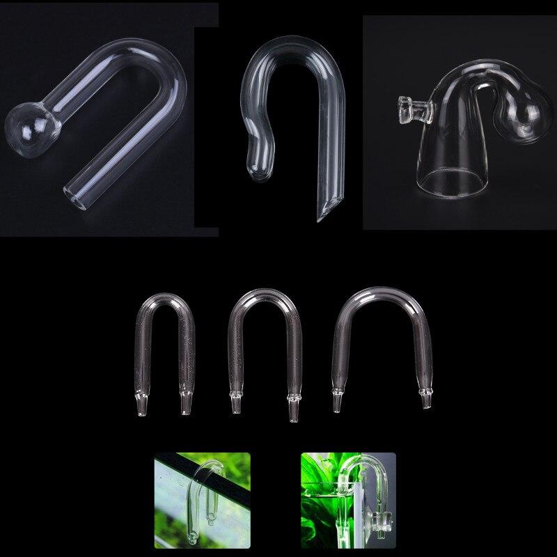 Durable U Shaped Glass Tube Aquarium CO2 Diffuser Check Valve Fish Tank Tube