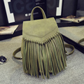 2017 Women Backpacks Fringe Tassel School Bag Shoulder Bags for Teenagers Girls Korean Travel Daypack Leather Backpack