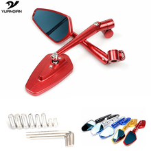 Universal Side Mirror Motorcycle mirror Scooter Rearview bar end For Hon