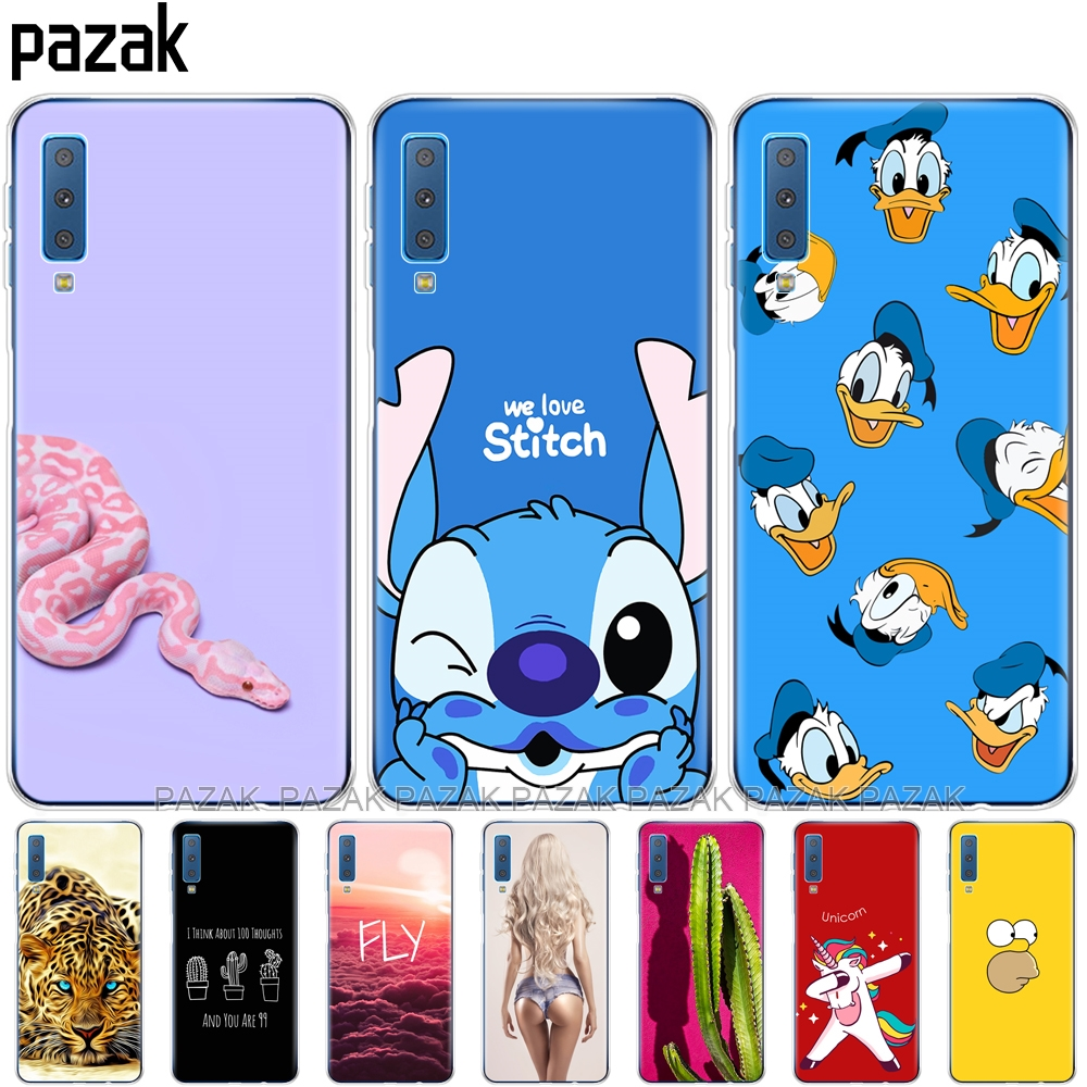 soft silicone Cases For Samsung Galaxy A7 2018 Phone Cover C