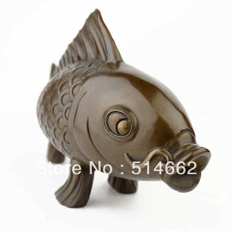 FengShui Brass Fish Sculptures /Fish / auspicious Fish/auspicious animalFengShui Brass Fish Sculptures /Fish / auspicious Fish/auspicious animal