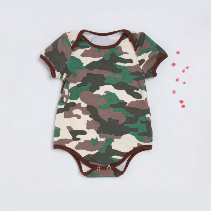 2018 New Pattern Cartoon Camouflage Baby Kazakhstan Clothing Baby Clothes Children's Garment Summer Men And Women
