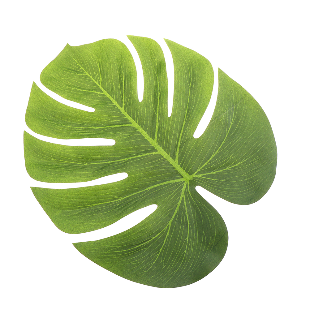 12pcs artificial leaf 35x29cm tropical palm leaves for Artificial leaves for decoration
