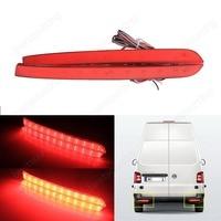 2x For VW Transporter T5 Red LED Rear Bumper Reflector Tail Brake Stop Light 2012 16
