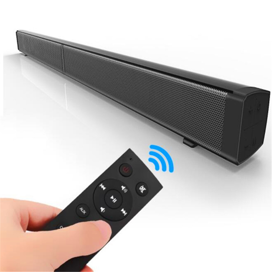 40W Home Cinema Audio System Soundbar For TV Music Column With Bluetooth Wall Mount Center Speaker Active Sound Box Optical