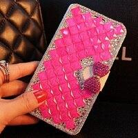 5 Color Glass Diamonds For Lenovo C2 Vibe C2 K 10A40 Case High Quality PU Mobile