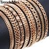 20cm Bracelets For Women Men 585 Rose Gold Curb Snail Foxtail Venitian Link Chains Mens Bracelets 2018 Fashion Jewelry KCBB1