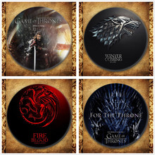 HBO TV Series Game Of Thrones Display Badge Fashion Song Ice And Fire House Stark Targaryen Lannister Brooches Pin Jewelry