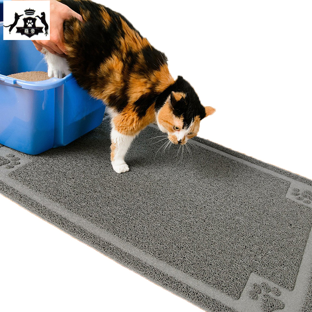 pvc cat litter mat extra large washable non slip animal mat protects your floors super sized