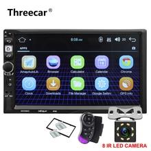 """7 """"2 Din Android 7,1 автомобильный Радио Универсальный gps навигации Bluetooth Wi-Fi 1024*600 авторадио FM стерео аудио камеры автомобиля dvd-плеер"""