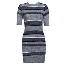 2018 Spring Winter Knitting Sexy Dress Short Sleeve Party Casual Knitted Striped Warm Sweaters Dresses Casual Women Clothing