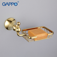 GAPPO 1 Set Wall Mount Zinc Alloy Soap Dish Holder Restroom Soap Basket Soap Box Dish
