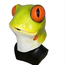 Halloween New Design Lovely Realistic Animal Latex Frog Head Mask