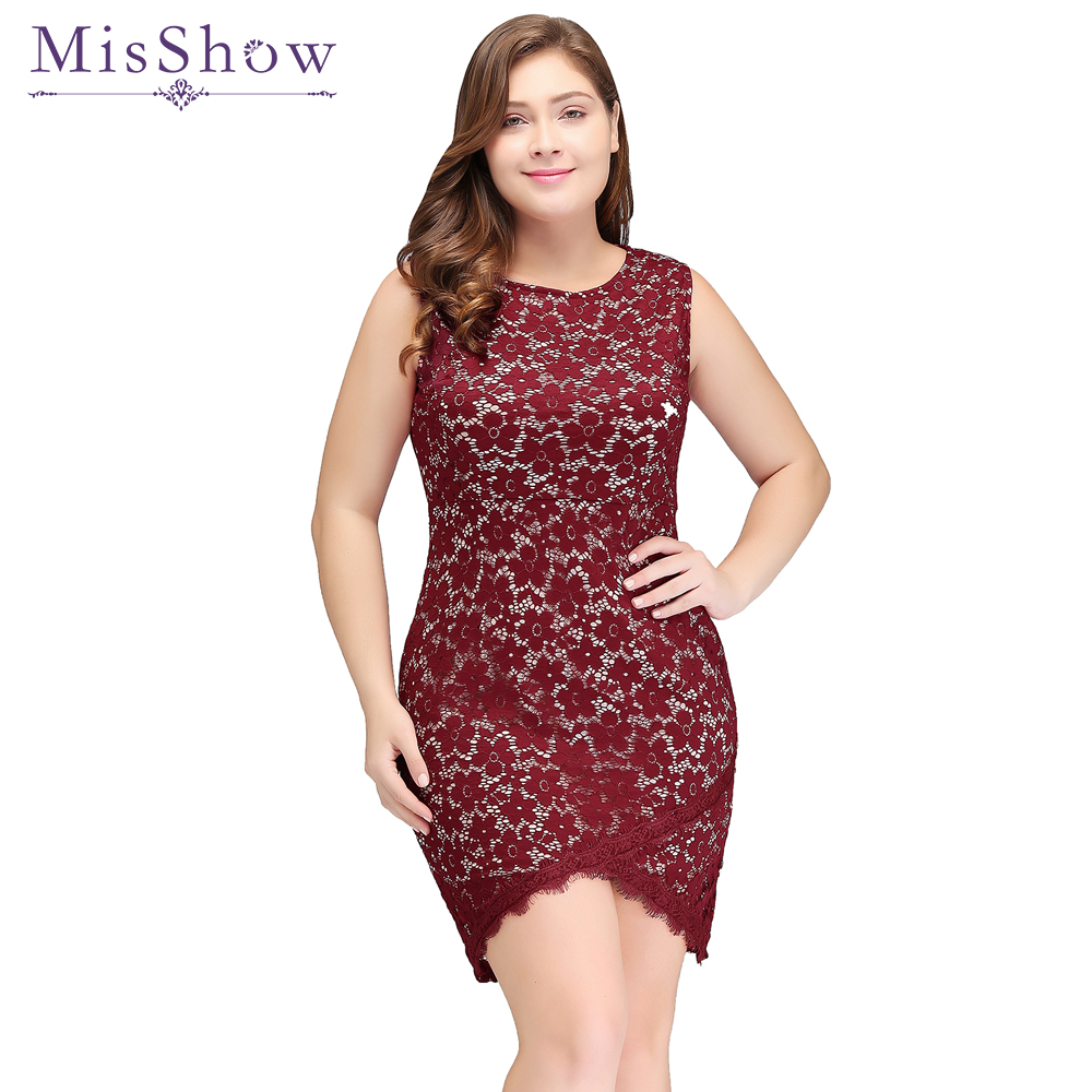 Burgundy Short Lace   Cocktail     Dress   Plus size 2019 Women Sexy Sleeveless robe de   Cocktail     Dresses   Party Bodycon Cheap Party   Dress