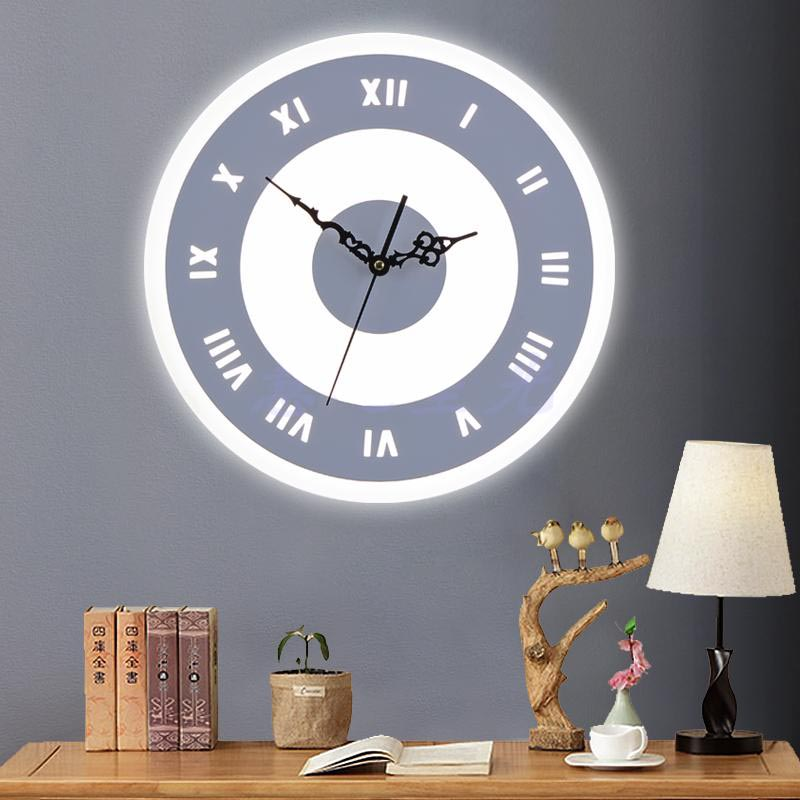 Nordic Brief Modern Warm Bedroom Bedside Lamp Living Room Dining Room Aisle Wall Clock Lamp Art Home Decor Sconce Light Fixtures modern acrylic led wall lights bedroom bedside wall lamp lampara de pared bed room decoration lighting wall sconces