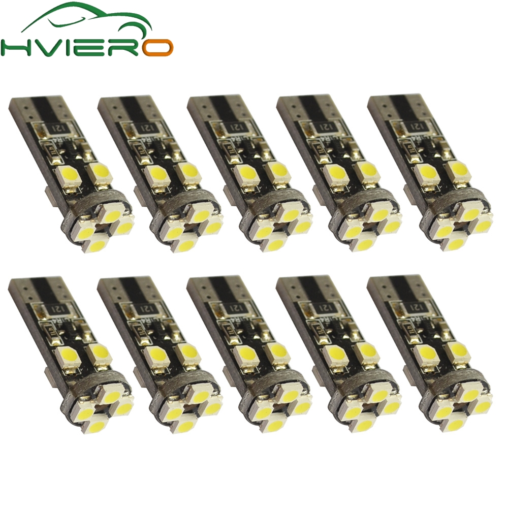 10X Canbus Xenon White 194 3528 8 Smd No Obc Error Free Auto Led Interior Light Tail Bulb Backup Light Parking Lamp