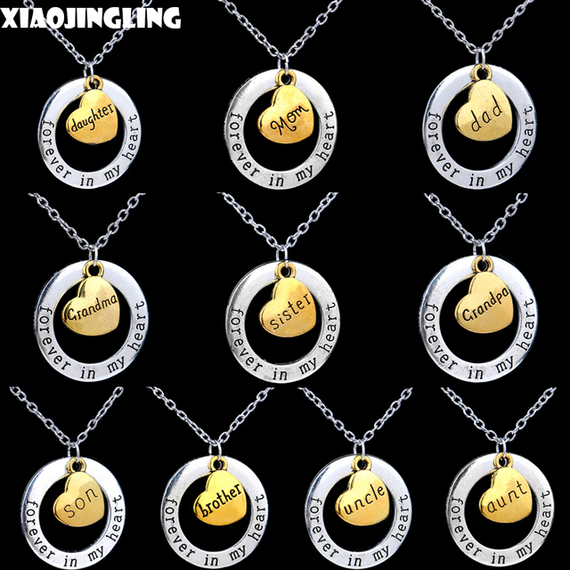 Xiaojingling christmas day forever in my heart memory necklace xiaojingling christmas day forever in my heart memory necklace alphabet letter heart pendant necklace grandma aloadofball Choice Image