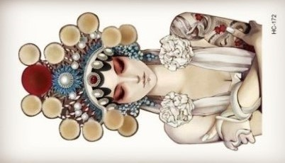 East Opeara Beauty Women Tattoo Body Art Beauty Makeup Waterproof Temporary Tattoo Stickers