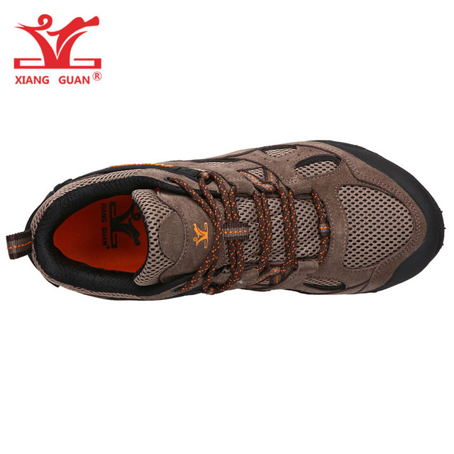 Zapatos de senderismo de ante para hombre Botas de senderismo transpirables calzado t ctico de monta
